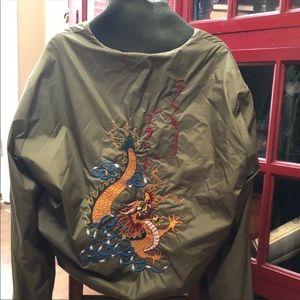 Vintage Reversible Lucky Brand Bomber Jacket